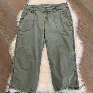 Jamaica Bay Green Cropped Pants Sz 14